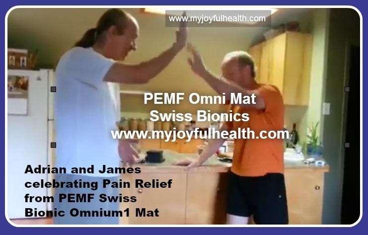 PEMF Pain Relief Adrian and James June 2016
