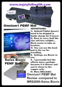 Omnium1 PEMF Mat Review Compared to MRS2000 Swiss Bionic