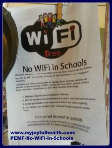 PEMF No WiFi In Schools Salmon Arm BC Canada use Pulsed ElectroMagnetic Field Therapy