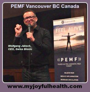 PEMF Vancouver BC Canada Wolfgang Jaksch Swiss Bionic