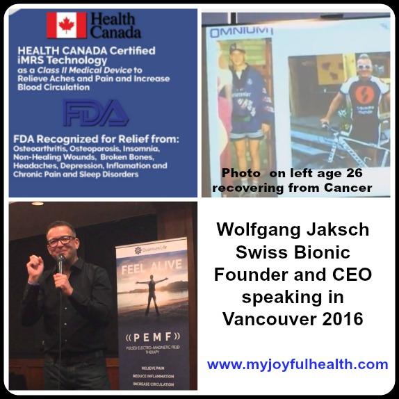 Wolfgang Jaksch Swiss Bionic Health Canada FDA USA