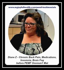 PEMF Testimonial Chronic Back Pain Diane Z