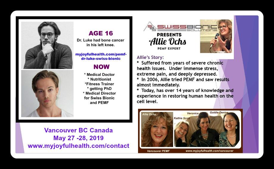 PEMF Canada Dr Luke Swiss Bionic and Allie Ochs Canada