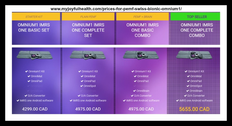 Prices for PEMF Swiss Bionic Omnium1